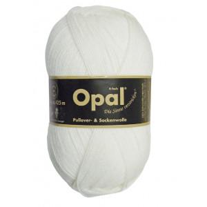 Opal Uni 4-trådet Garn Unicolor 2620 Hvit