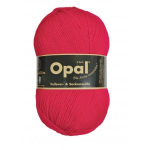 Opal Uni 4-trådet Garn Unicolor 5180 Rød