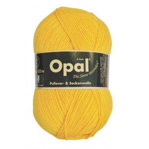 Opal Uni 4-trådet Garn Unicolor 5182 Solgul