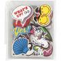 Soft stickers, ark 12,2x17,75 cm, 8 ark