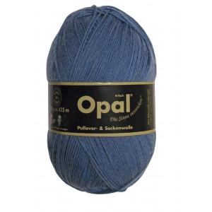 Opal Uni 4-trådet Garn Unicolor 5195 Jeansblå