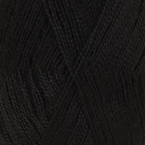 Drops Lace Garn Unicolor 8903 Sort / Svart 50g