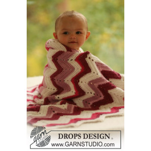 Baby Snug by DROPS Design - Teppe Hekleoppskrift 65/75 x 83 cm