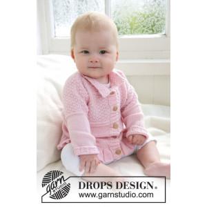 Lea by DROPS Design - Baby Jakke Strikkeoppskrift str. 1/3 mdr - 3/4 år