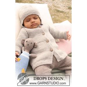 Samuel Jakke by DROPS Design - Baby Jakke Strikkeoppskrift str. 1/3 mdr - 3/4 år