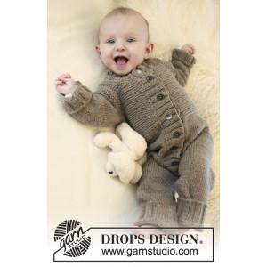Happy Days by DROPS Design - Baby Drakt Strikkeoppskrift str. 1/3 mdr - 3/4 år