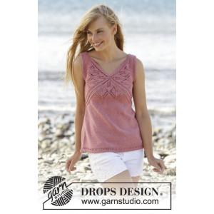 Butterfly Heart Top by DROPS Design - Topp Strikkeoppskrift str. S - XXXL