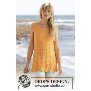 Sunkissed by DROPS Design - Topp Strikkeoppskrift str. S - XXXL