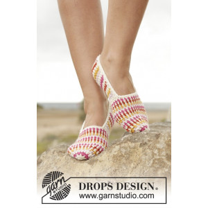 Tropical Steps by DROPS Design - Tøfler Hekleoppskrift str. 35 - 43
