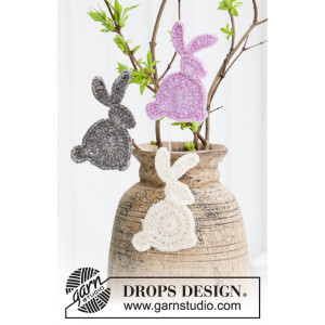 Hoppity Hop by DROPS Design - Kanin Hekleoppskrift 10x5 cm