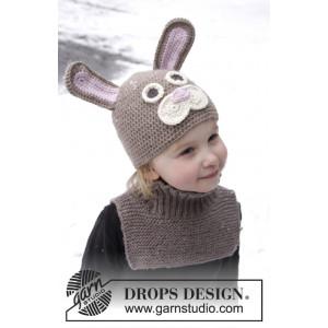 Honey Bunny by DROPS Design - Påskeharelue hekleoppskrift str. 1-8 år