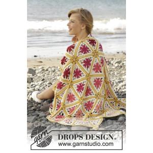 Spring Daze by DROPS Design - Teppe Hekleoppskrift 93x130
