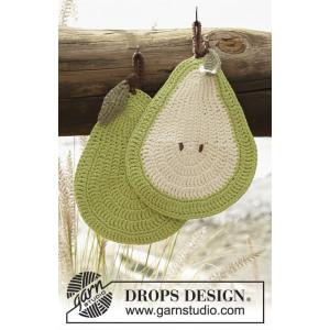 Quite a Pear! by DROPS Design - Grytelapper Hekleoppskrift