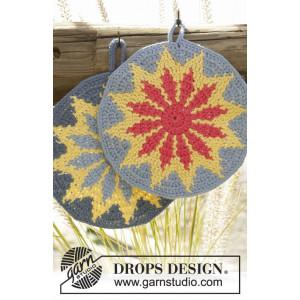 Burning Sun by DROPS Design - Grytekluter Hekleoppskrift