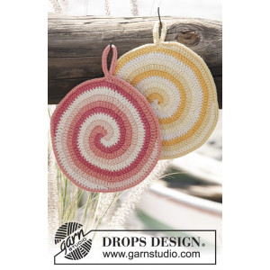 Candy Daze by DROPS Design - Grytelapper Hekleoppskrift