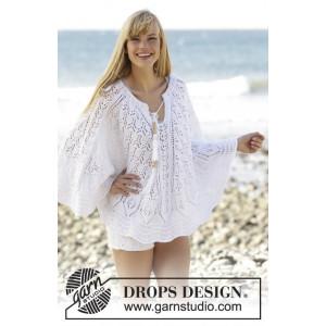 Angelica by DROPS Design - Poncho Strikkeoppskrift str. S/M - XXL/XXXL