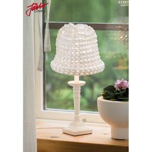 Hoooked liten skjerm til bordlampe - Lampeskjerm Hekleoppskrift 52x25 cm