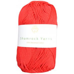 Shamrock Yarns Mercerisert Bomull 19 Rød