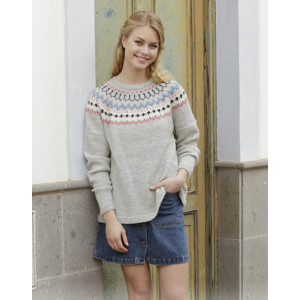 Mina Pullover by DROPS Design - Genser Strikkeoppskrift str. S - XXXL