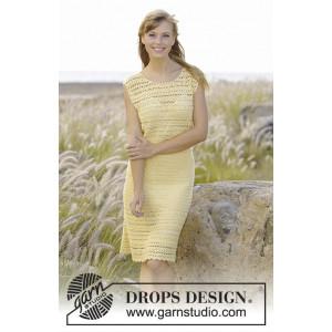 Mimosa by DROPS Design - Kjole Hekleopskrift str. S - XXXL
