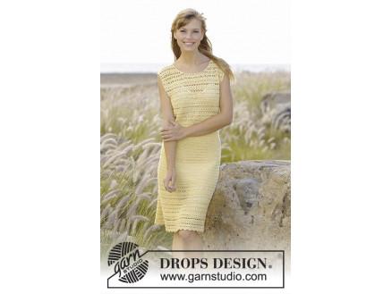 290653da8843 Mimosa by DROPS Design - Kjole Hekleopskrift str. S - XXXL ...