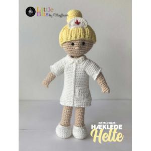 Mayflower Little Bits Heklede Helter Sykepleier - Dukke Hekleoppskrift