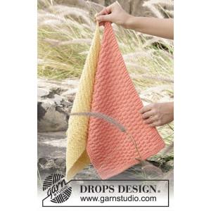 Brick Road by DROPS Design - Håndklær Strikkeoppskrift 31x45 cm