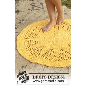 Sol by DROPS Design - Gulvteppe Hekleoppskrift 84 cm