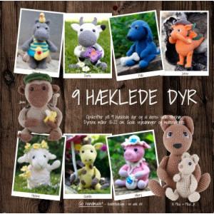 9 hæklede dyr - Bok fra Go handmade