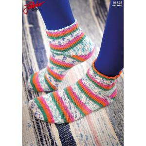 Järbo Tå Op-sokker Med Magic Loop-teknik - Strømper Strikkeoppskrift str. 21-45