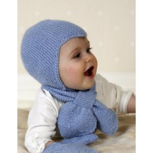 Baby Aviator Hat by DROPS Design - Lue, Skjerf og Votter Strikkeoppskrift str. 1 mdr - 4 år