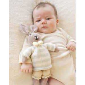 Mr. Bunny by DROPS Design - Baby Bamse Strikkeoppskrift