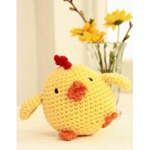 Chicken Little by DROPS Design - Påskekylling Hekleoppskrift 12 cm