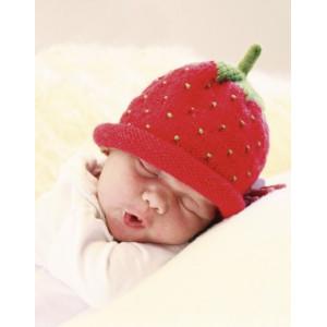 Sweet Strawberry by DROPS Design - Baby Lue Strikkeoppskrift str. 1/3 mdr - 3/4 år