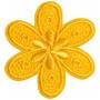 Strykemerke Blomst Gul 4,5x4cm