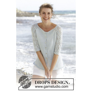 Sea Nymph Cardigan by DROPS Design - Jakke Strikkeopskrift str. S - XXXL