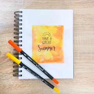 Lettering på akvarellbakgrunn av Rito Krea - Lettering DIY