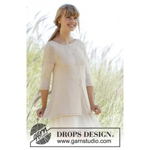 Dune Cardigan by DROPS Design - Jakke Strikkeoppskrift str. S - XXXL