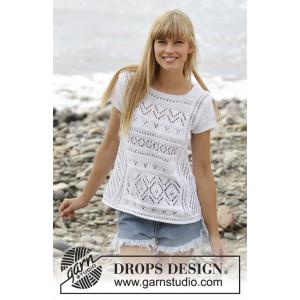 Erica Top by DROPS Design - Topp Strikkeopskrift str. S - XXXL