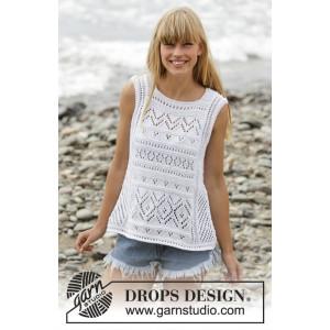 Erica Singlet by DROPS Design - Topp Strikkeopskrift str. S - XXXL