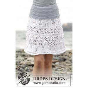 Summer Elegance by DROPS Design - Skjørt Strikkeoppskrift str. S - XXXL