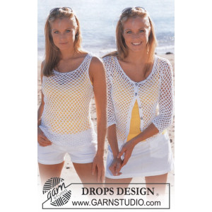 Summer Breeze Set by DROPS Design - Topp og Cardigan Hekleopskrift str. S - XXL
