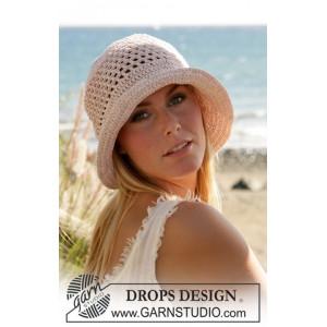 Seaside by DROPS Design - Hatt Hekleoppskrift str. S - L
