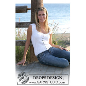 Dainty Miss by DROPS Design - Topp Hekleoppskrift str. S - XL