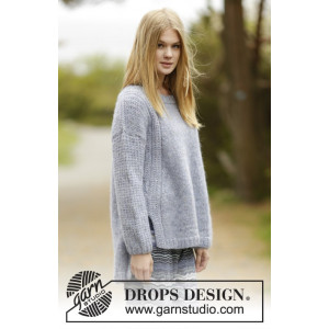 Sigrid by DROPS Design - Genser Strikkeoppskrift str. S - XXXL