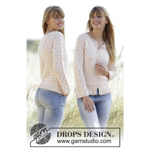 Jolly May by DROPS Design - Jakke Strikkeoppskrift str. XS - XXXL