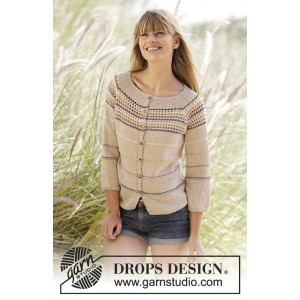 Freja Cardigan by DROPS Design - Jakke Strikkeoppskrift str. S - XXXL