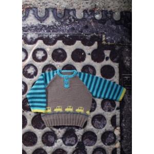 Mayflower Baby Genser med Biler - Genser Strikkeopskrift str. 0/1 mdr - 4 år