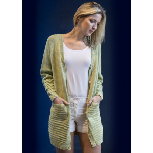 Mayflower Lang Cardigan - Jakke Strikkeoppskrift str. S - XXXL