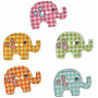Infinity Hearts Knapper i Tre Elefanter ass. farger 29x20 mm - 50 stk